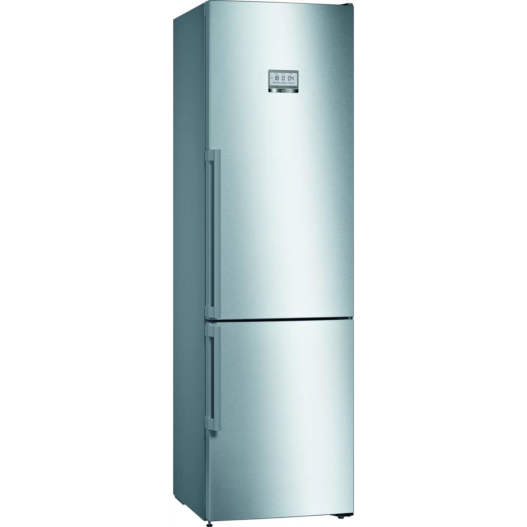Fotografie Combina frigorifica Bosch KGF39PIDP, 345 l, Clasa D, NoFrost, VitaFresh, H 203 cm, Inox antiamprenta