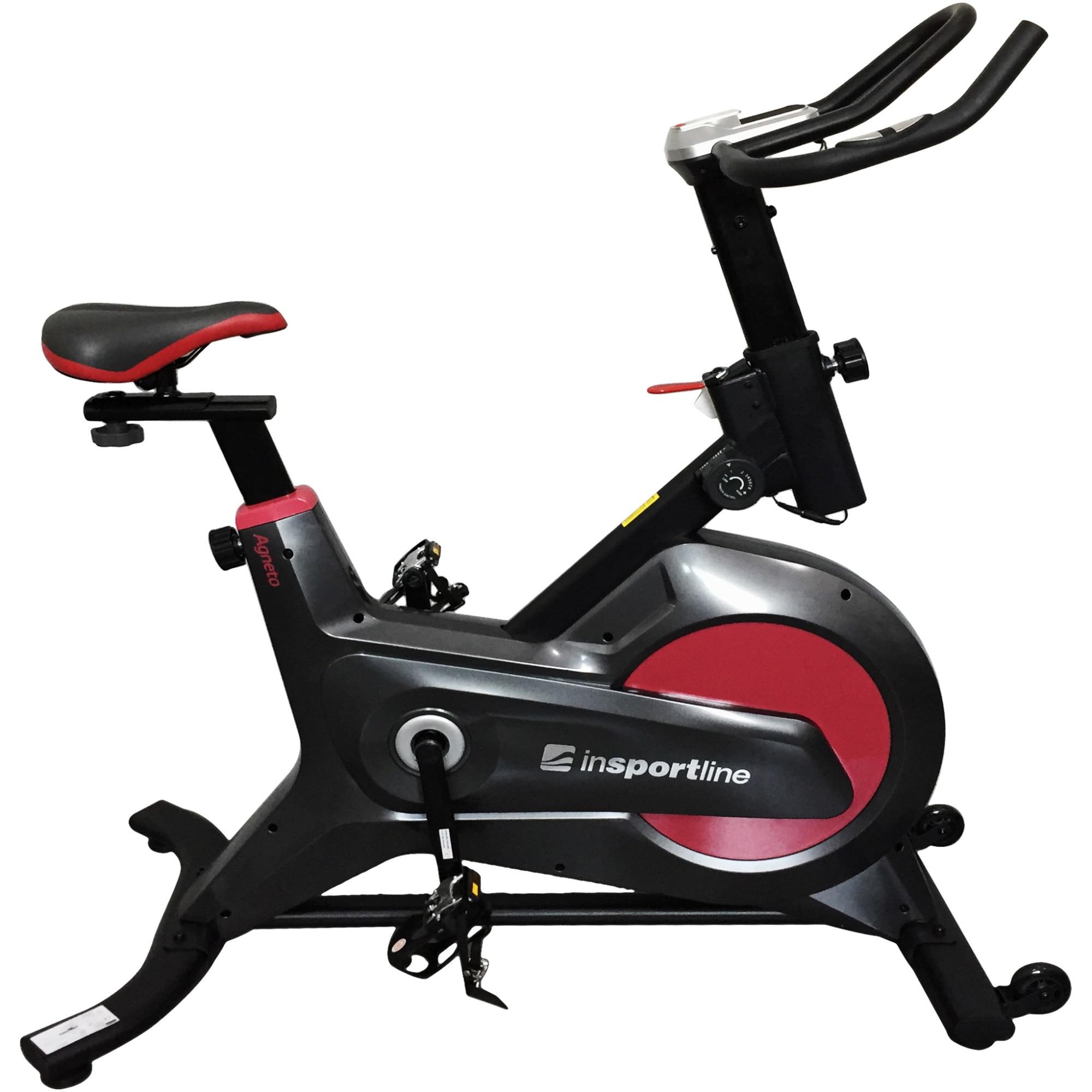 Fotografie Bicicleta spinning magnetica InSPORTline Agneto, greutate volant 6kg, greutate maxima utilizator 120kg