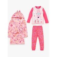 Комплект халат и пижама за момичета Peppa Pig, за 5-6 годишни, Розов