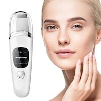 Ултразвукова шпатула S-beauty 2021, 4 in 1 за дълбоко почистване, йонофореза, електропорация,атомизация, Led дисплей, бяла
