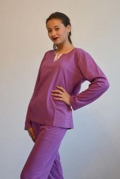 Női pizsama, lila , M,L