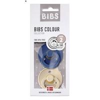 BIBS M színes éjféli / vaníliás 2 darabos cumi csomag 6-18 hónapig