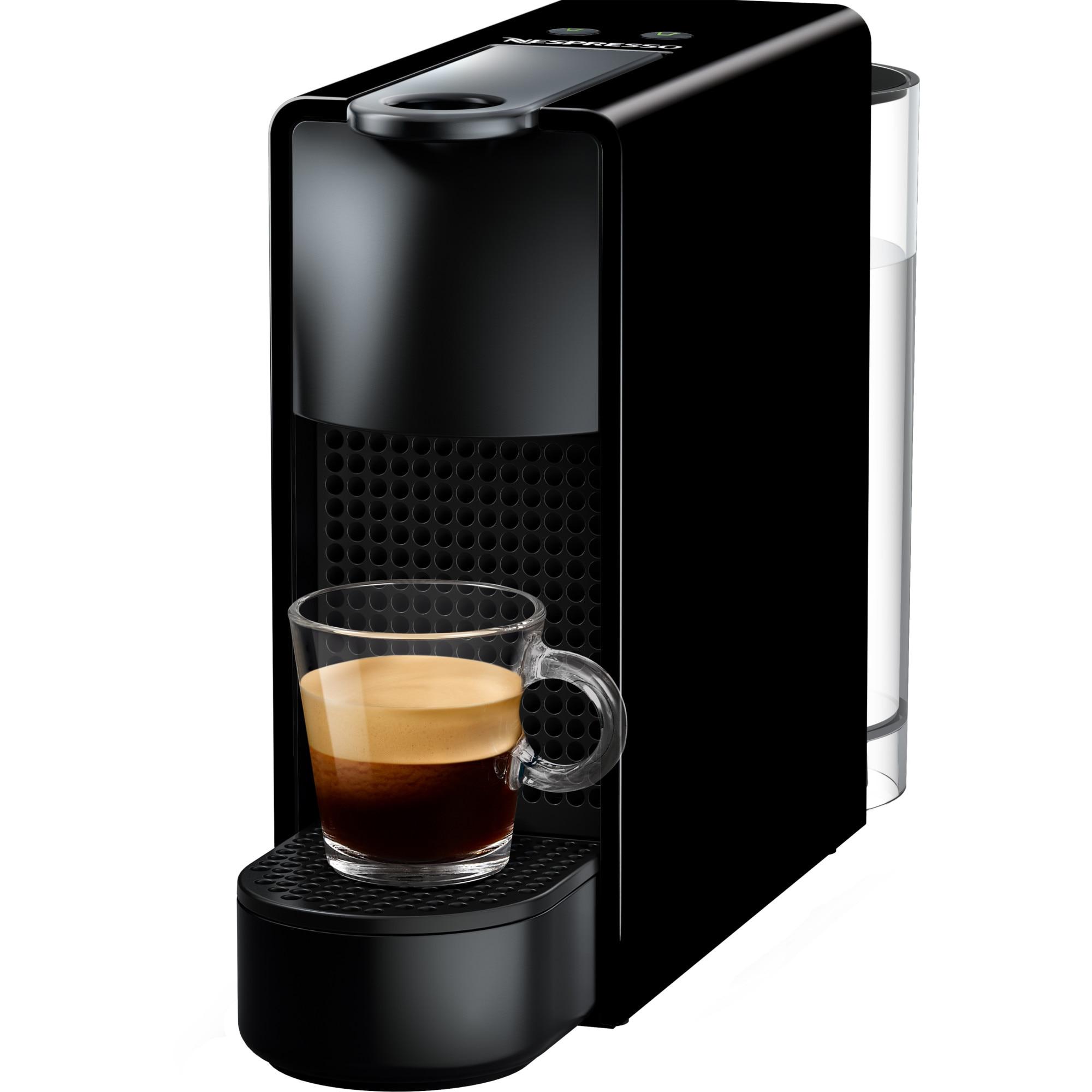 Fotografie Espressor Nespresso Essenza Mini C30, 19 bari, 1260W, 0.6l, Negru + 14 capsule cadou