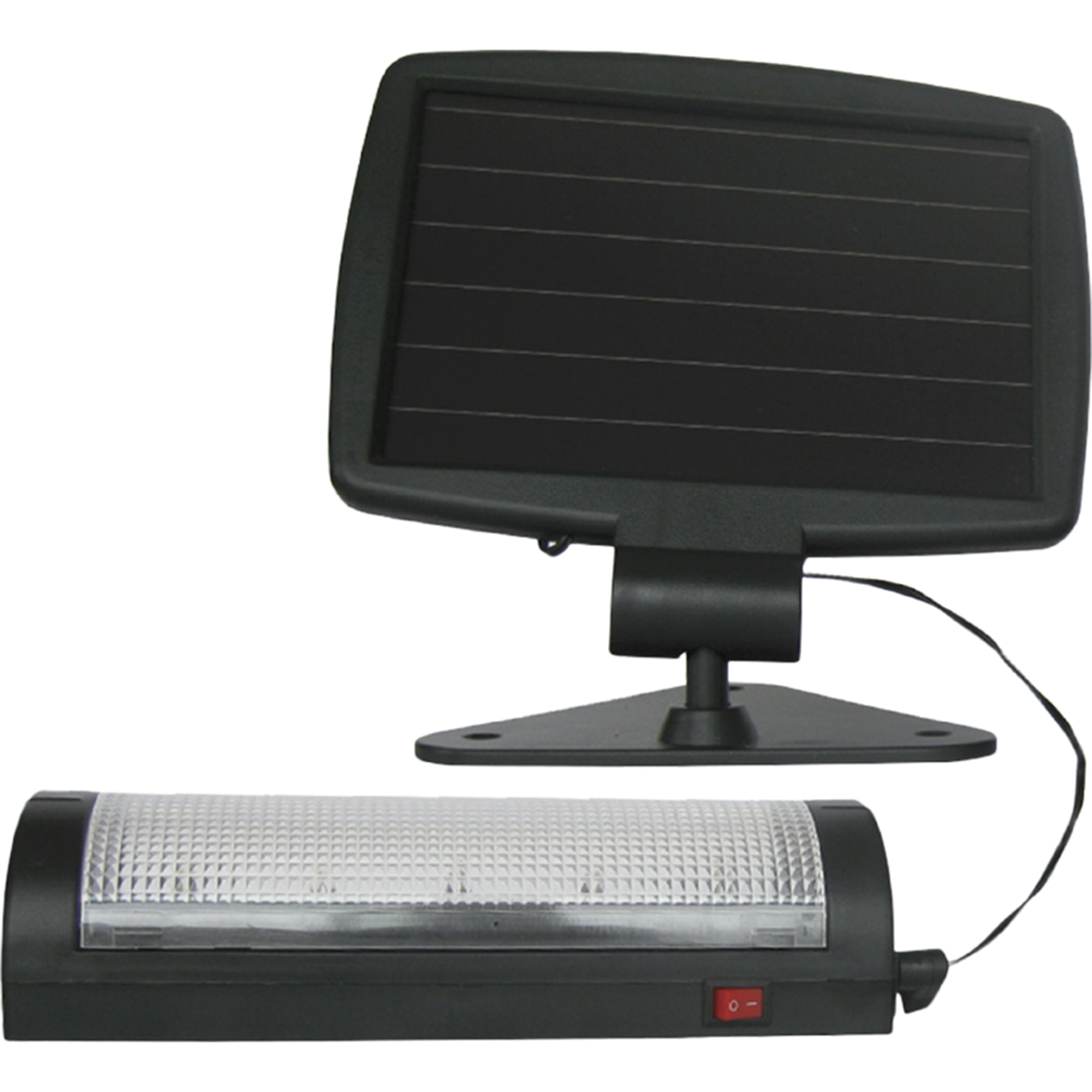 Fotografie Kit solar iluminat Flink, 0.55W, 600mAh, panou solar: 176x174; aplica: 189x60