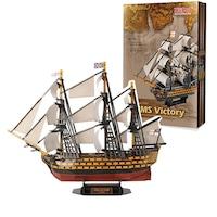Пъзел 3D Кораб HMS Victory (1765), 189 части