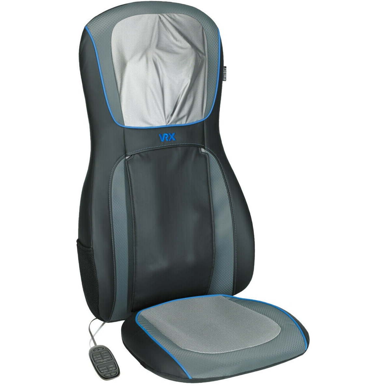 Fotografie Husa de scaun pentru masaj Shiatsu Medisana MCS-1000H-VR, Telecomanda, 3 nivele de intensitate, 3 zone de masaj, Oprire automata, Gri