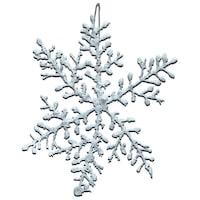 Комплект декоративни снежинки 3 броя,бели, 17 см