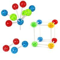 Комплект конструктивни топчета 3D, 25мм, 36 части., 4 цвята