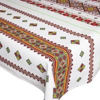 Fata de masa pentru 4 persoane, Motiv traditional, bumbac 100%, 150x150cm, multicolor