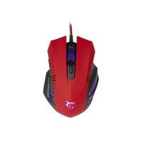 White Shark GM-5006R Hannibal-2 Gamer egér, 3200 dpi, piros