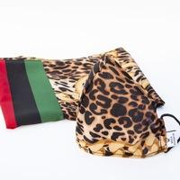 XMAS BOX: Sál és Karácsonyi Maszk G3 szűrővel, 3 rétegű és mosható - Leopard