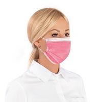 Комплект трипластови медицински маски за лице с филтър Healthy Touch , 50бр, Розов