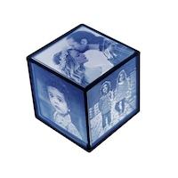 Litofanie - lampa de veghe personalizata cu pozele tale printate 3D, cub, 6 cm, led