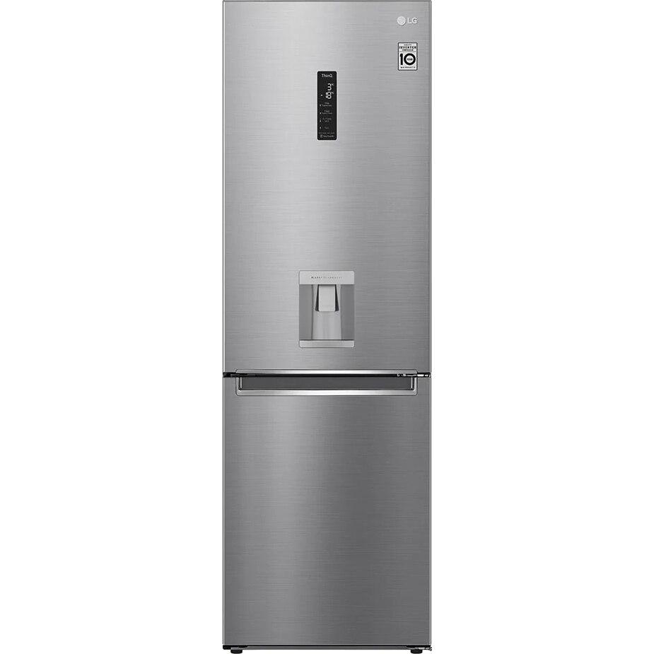 Fotografie Combina frigorifica LG GBF71PZDMN, 337 l, Clasa E, No Frost, WiFi, Dozator apa, H 186 cm, Argintiu