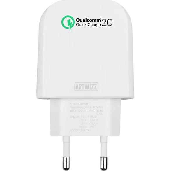 Fotografie Incarcator retea Artwizz, Quickcharge, USB Type C, 15W, Alb