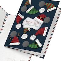 Скреч картичка ШантавоЕ 422 за Коледа, с 9 предизвикателства, хартия, 21 х 15 см