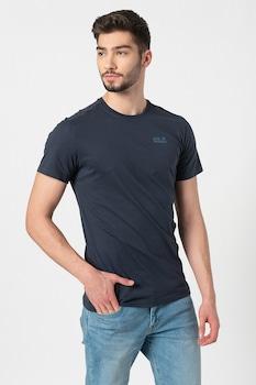 Jack Wolfskin, Essential kerek nyakú organikuspamut-tartalmú póló, Tengerészkék, M