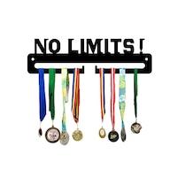 Закачалка за медали JJDisplays, Метални, черен, No Limits!
