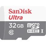 Карта памет SANDISK ULTRA microSDHC UHS-I, 32GB, Class 10, 80MB/s, +Адаптер