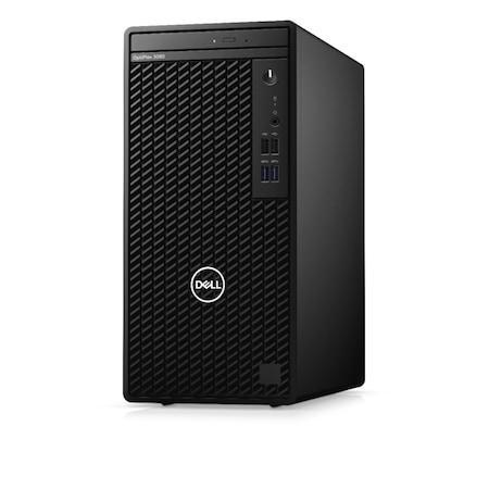 Настолен компютър Dell Optiplex 3080 MT, N002O3080MTEM, Intel Core i3-10100 3.60 GHz up to 4.30 GHz 6 MB Cache (4-ядрен), Intel UHD Graphics 630, 4GB 2666MHz (1x4GB) DDR4, Black