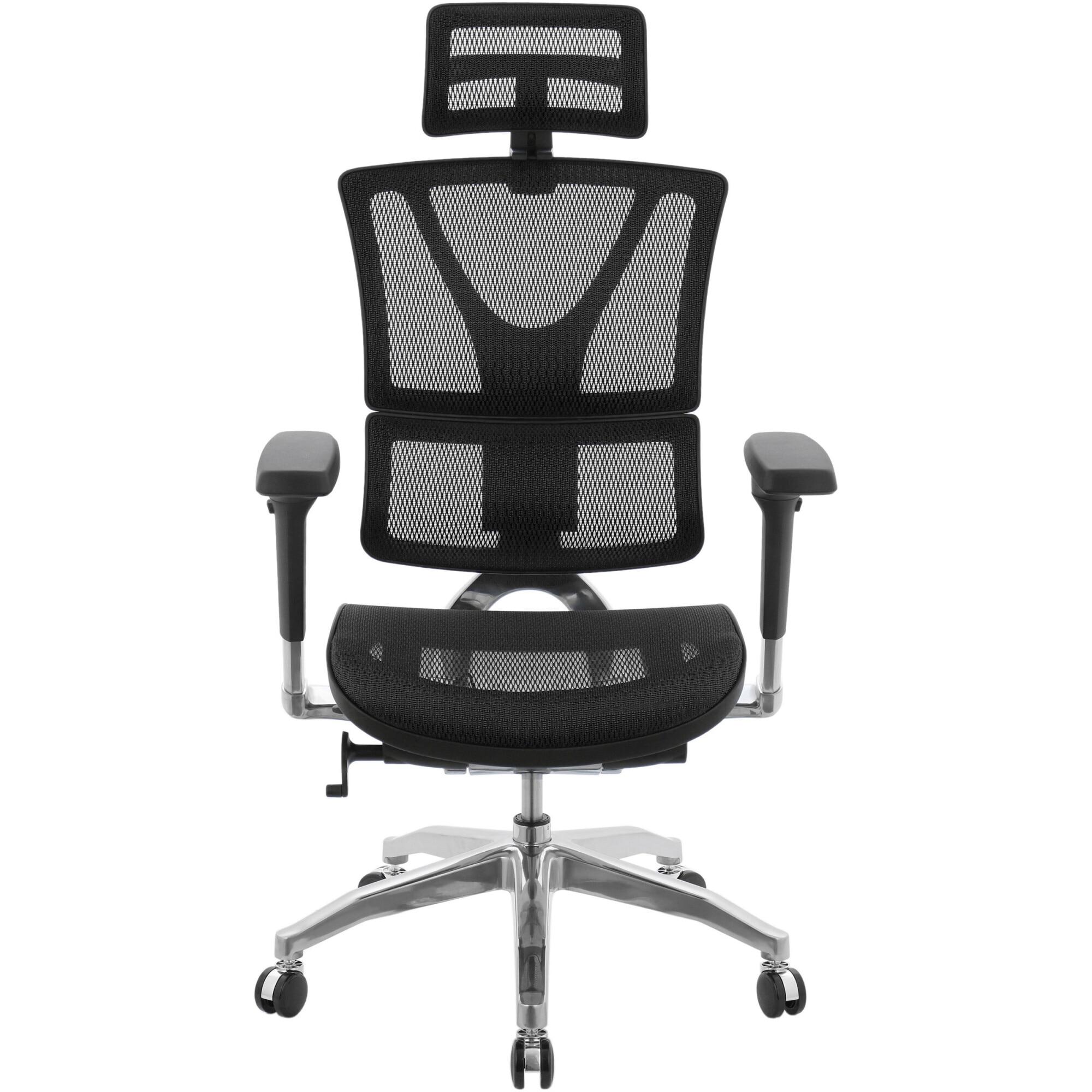 Fotografie Scaun ergonomic Kring Hyman-H, suport lombar si spatar reglabil, mesh, Negru