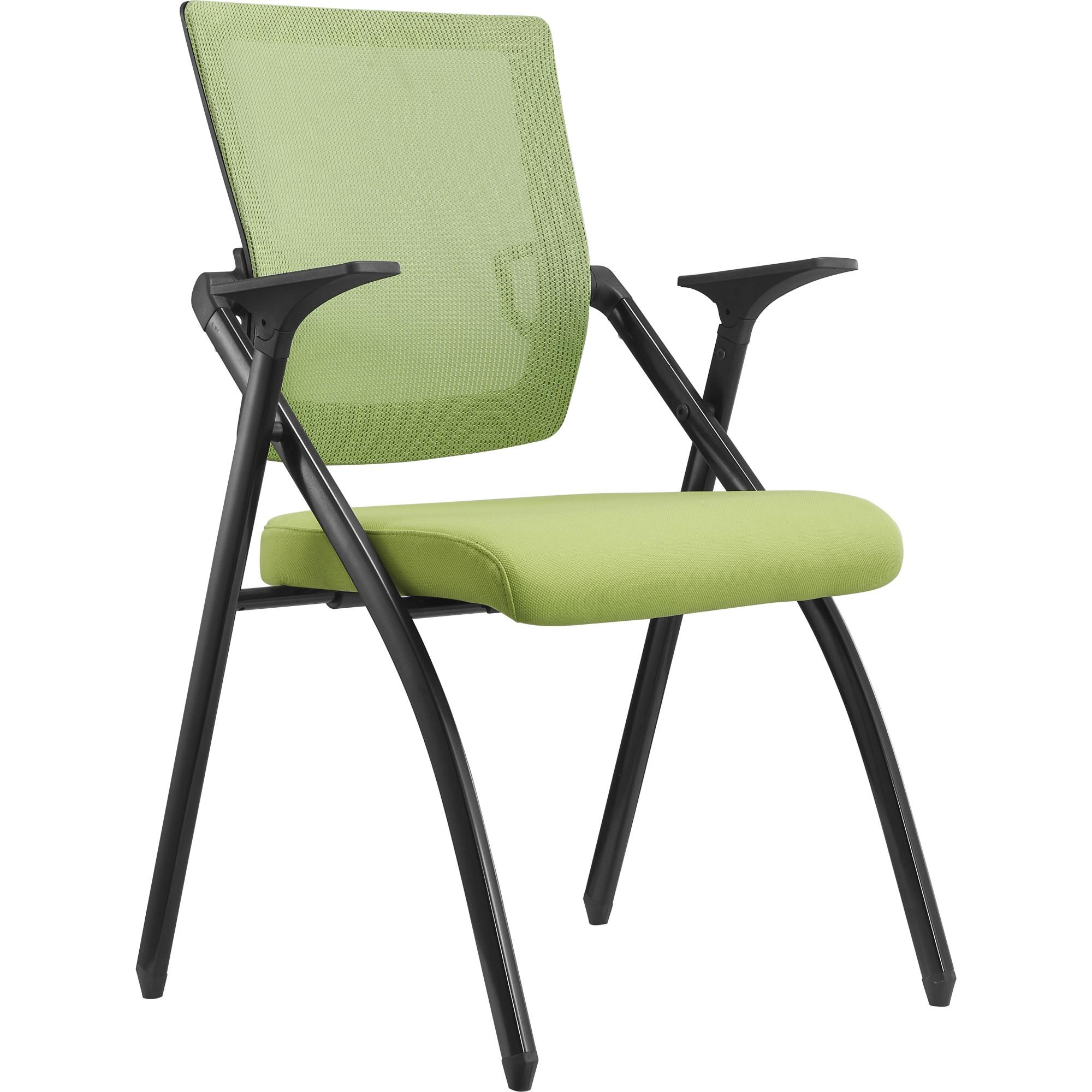 Fotografie Scaun pliabil pentru conferinta Kring Lemon, cu suport pentru scris, mesh, Verde