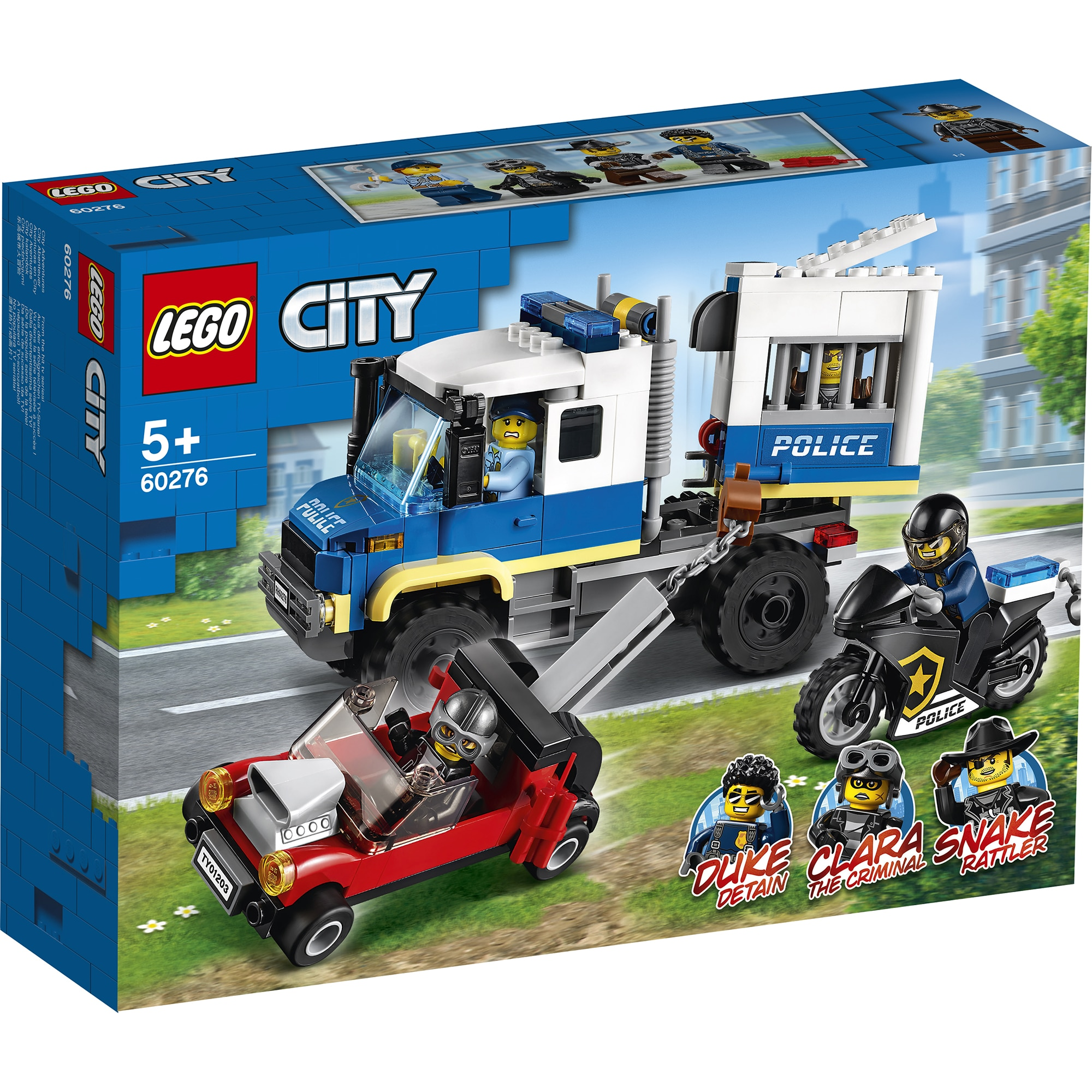 Fotografie LEGO City Police - Transportul prizonierilor politiei 60276, 244 piese