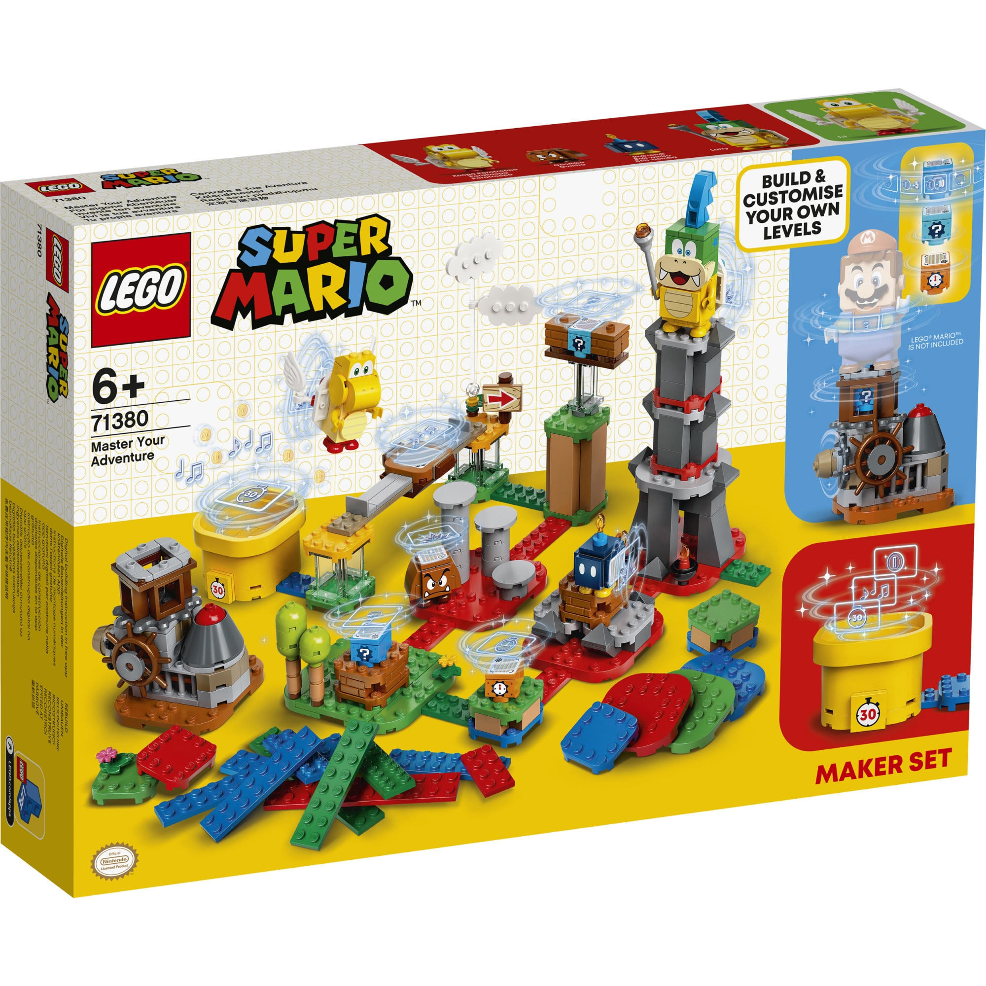 Fotografie LEGO Super Mario - Personalizeaza ti aventura 71380, 366 piese