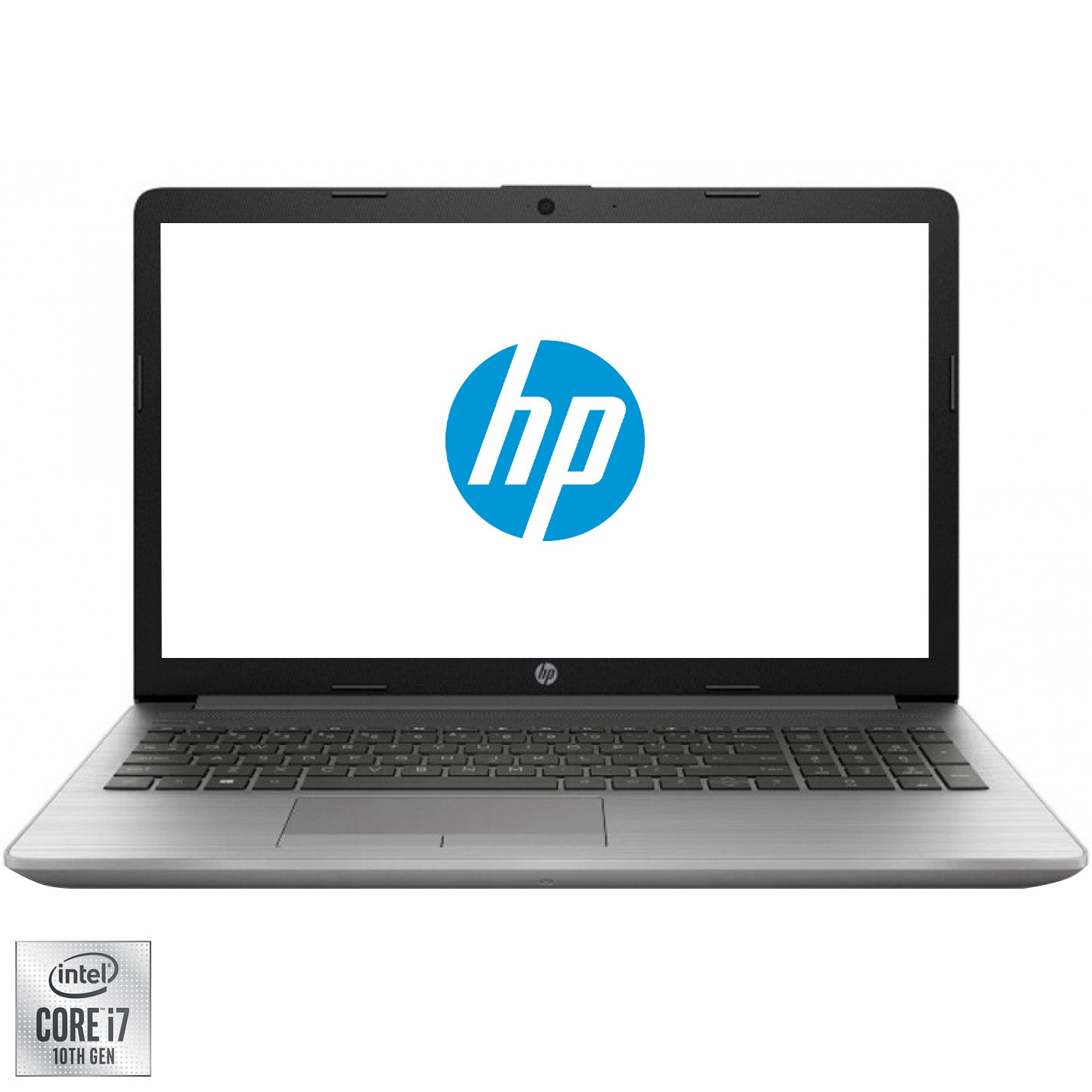 "Fotografie Laptop HP 250 G7 cu procesor Intel Core i7-1065G7 pana la 3.90 GHz, 15.6"", Full HD, 8GB, 256GB SSD, Intel UHD Graphics, Free DOS, Silver"