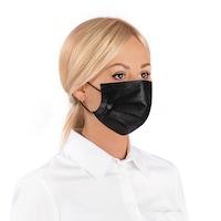 Комплект трипластови медицински маски за лице с филтър Healthy Touch, 50бр ,Черен