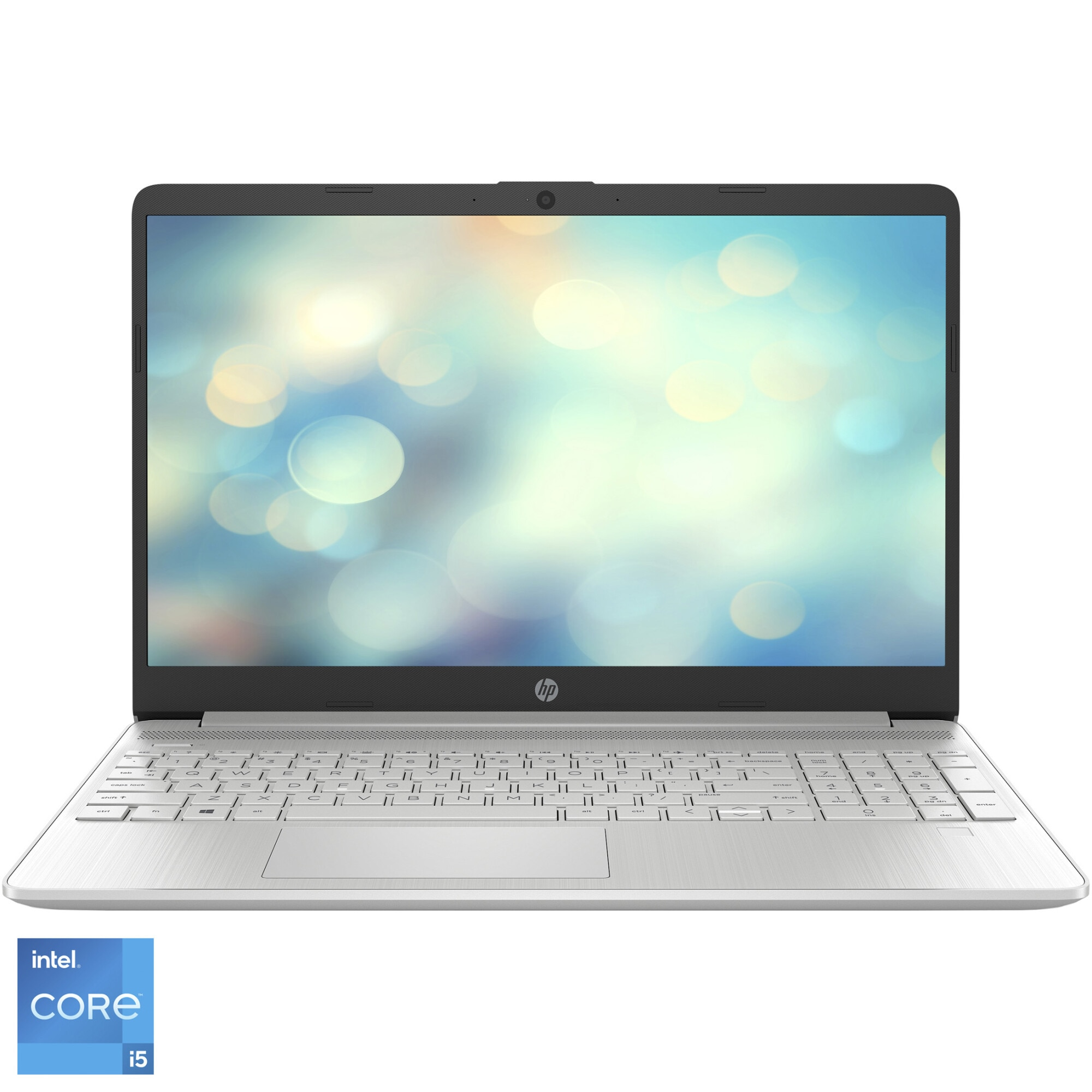 "Fotografie Laptop HP 15s-fq2012nq cu procesor Intel® Core™ i5-1135G7 pana la 4.20 GHz, 15.6"", Full HD, 16GB, 512GB SSD, Intel® Iris® Xᵉ Graphics, Free DOS, Natural Silver"