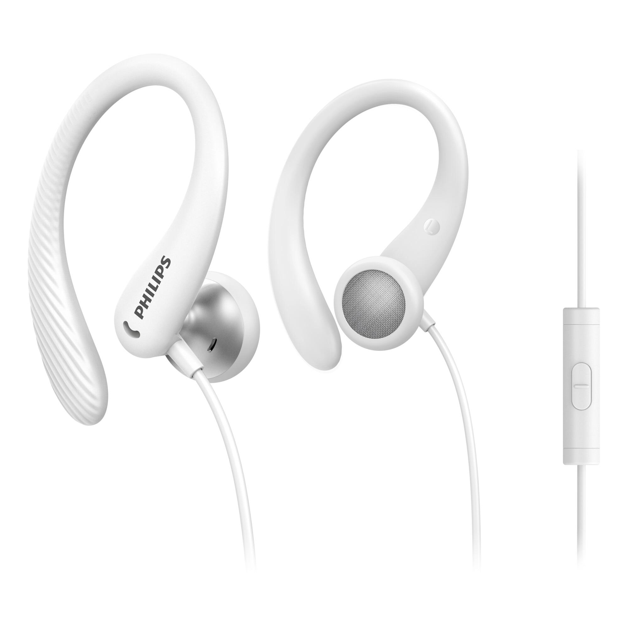Fotografie Casti Audio In-Ear Sport Philips, TAA1105WT/00, cu fir, Microfon, Alb