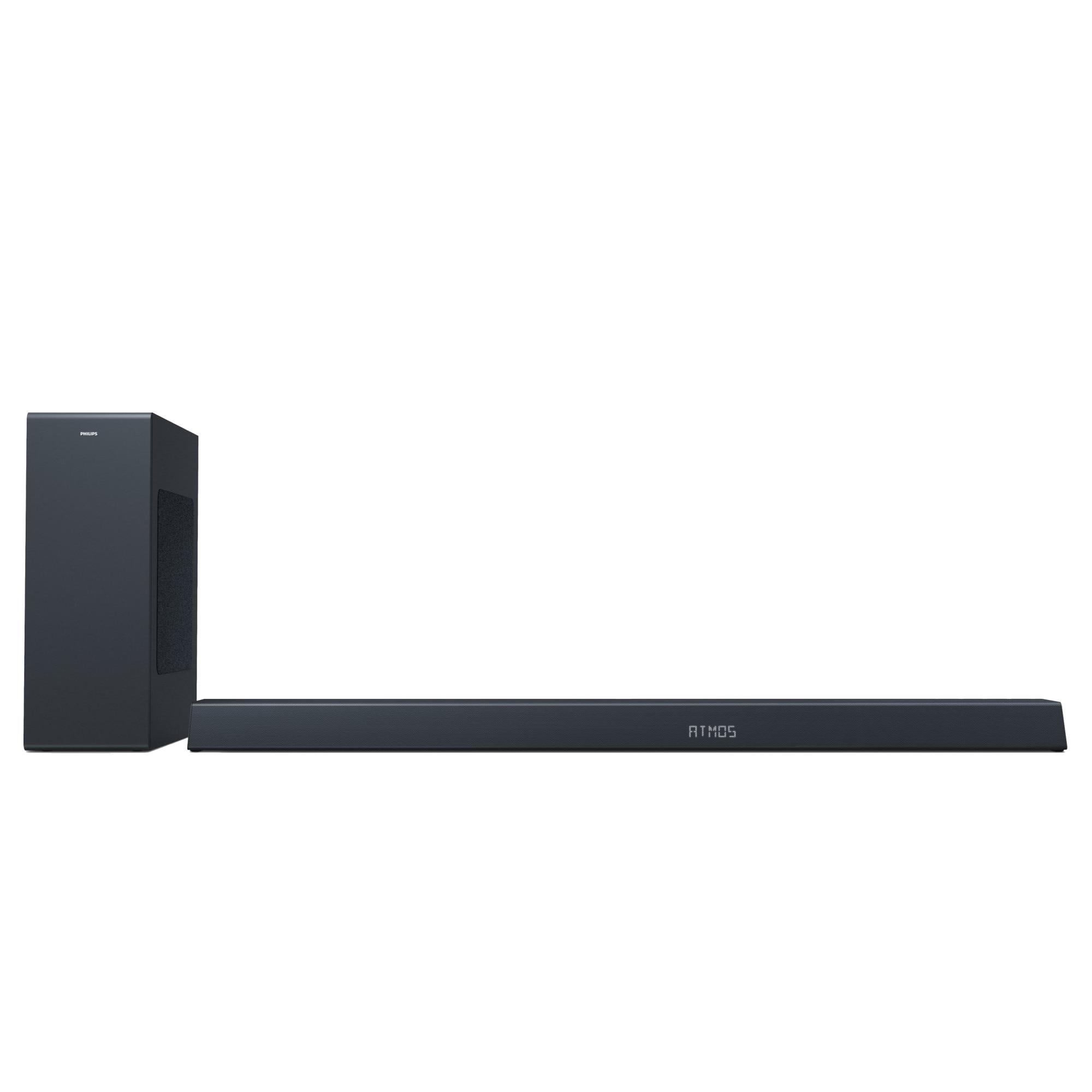 Fotografie Soundbar Philips TAB8805/10, 3.1, 300W, Subwoofer Wireless, Dolby Atmos, Negru
