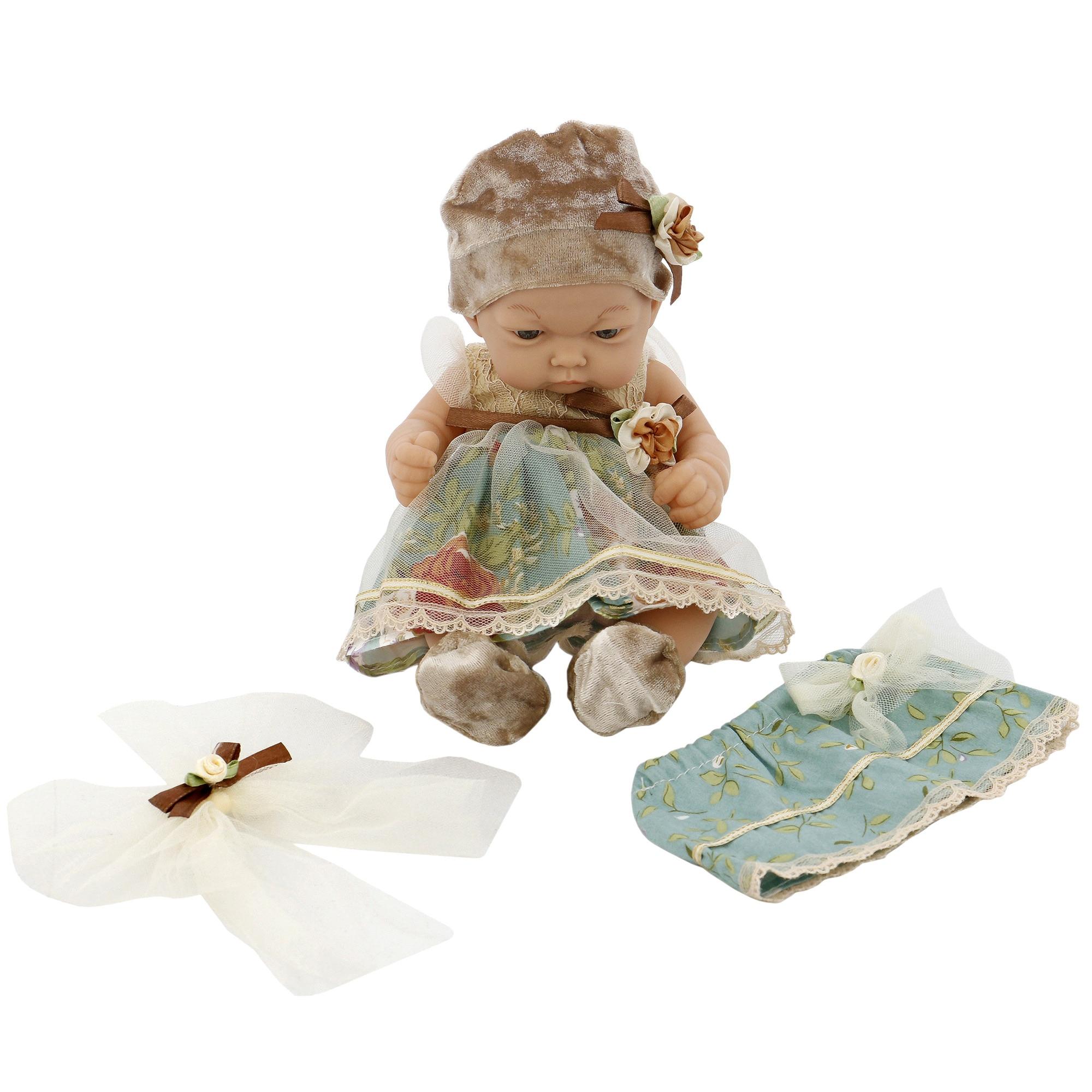 Fotografie Papusa Mappy- Baby so lovely, verde/bej, 25 cm
