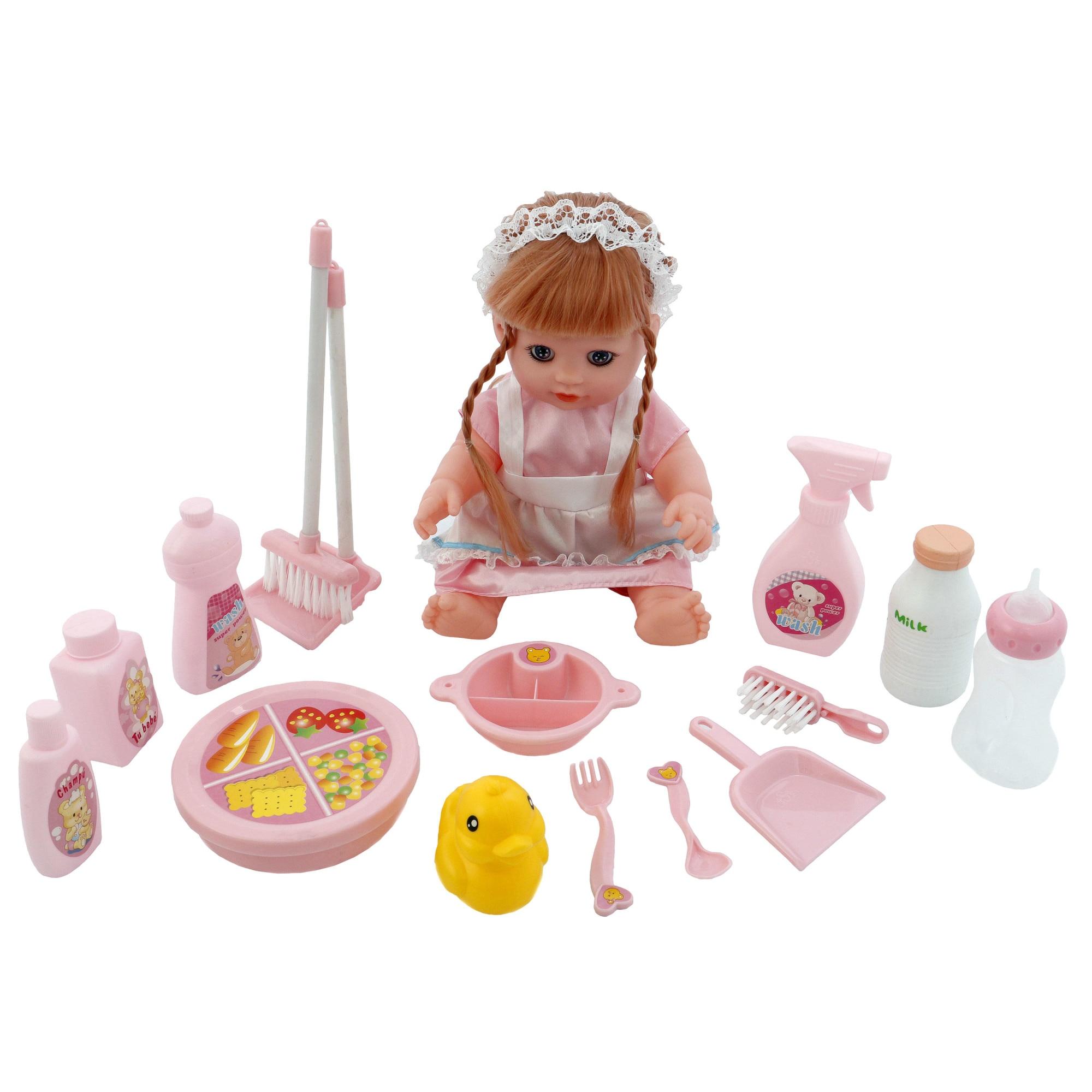 Fotografie Papusa M-Toys Aurora cu functii si accesorii, 35 cm