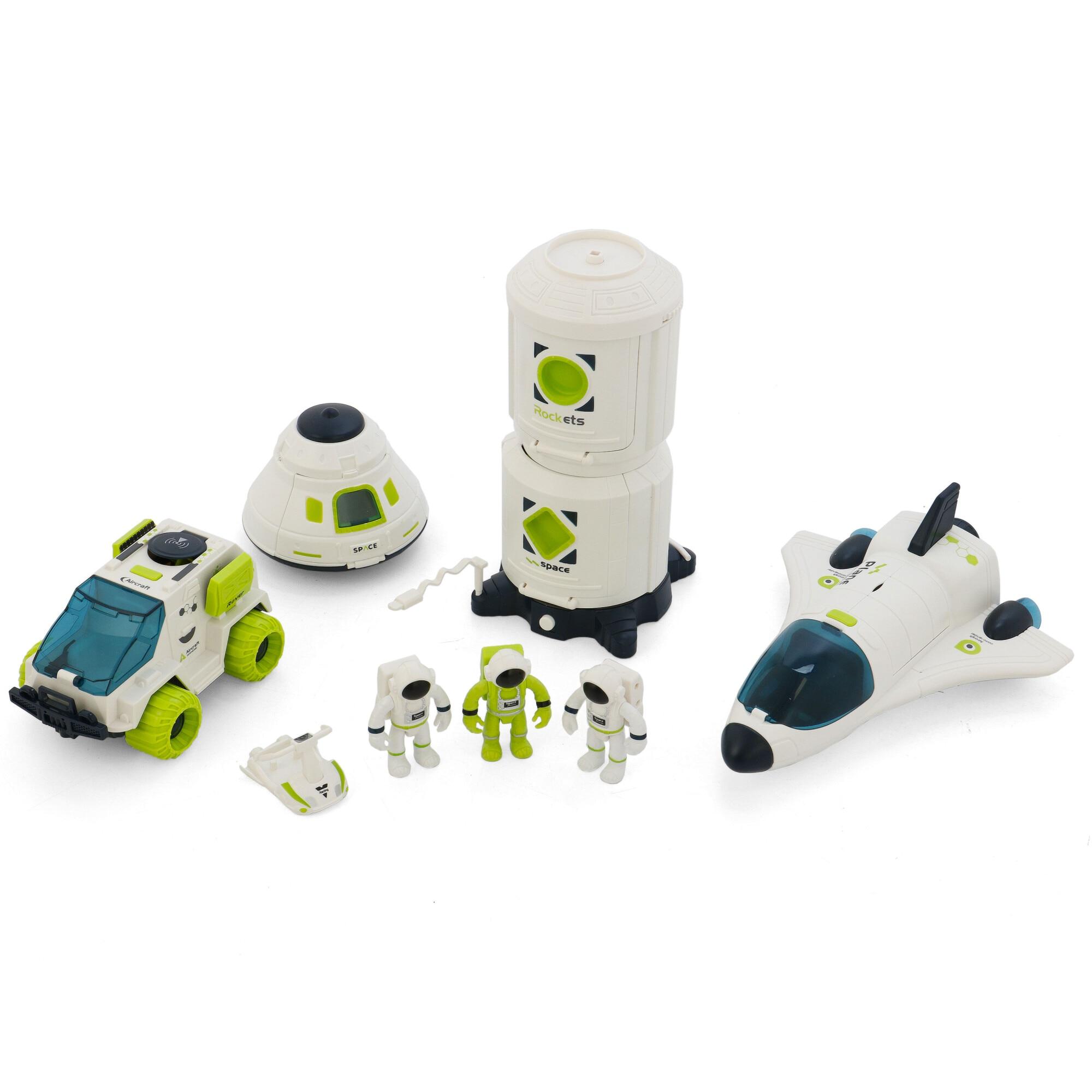 Fotografie Set de joaca M-Toys Statia Spatiala 4 in 1 cu lumini si sunete