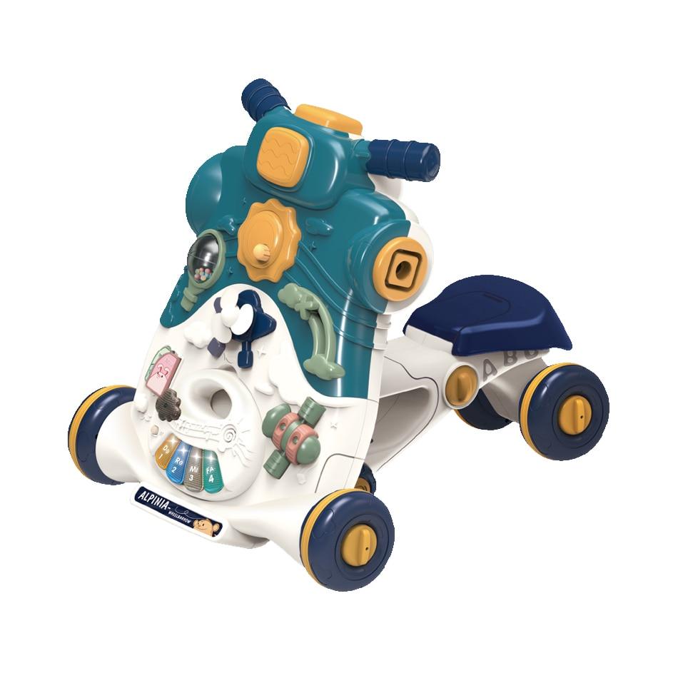 Fotografie Antepremergator M-Toys 2 in 1, convertibil, cu lumini si sunete, turcoaz