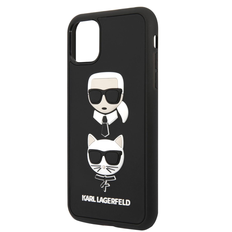 Fotografie Husa de protectie Karl Lagerfeld KLHCN58IK3DKC 3D Rubber Heads Kryt Pro pentru iPhone 11 Pro Black