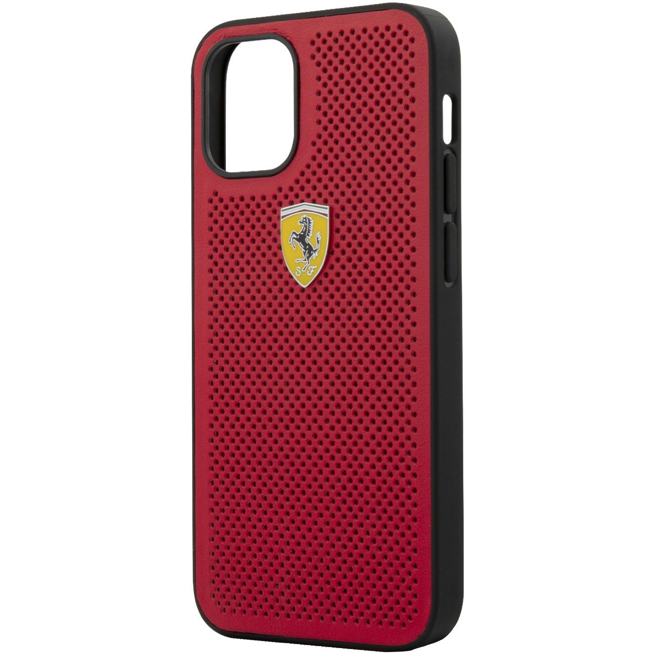 Fotografie Husa de protectie Ferrari FESPEHCP12SRE On Track Perforated pentru iPhone 12 Mini Red