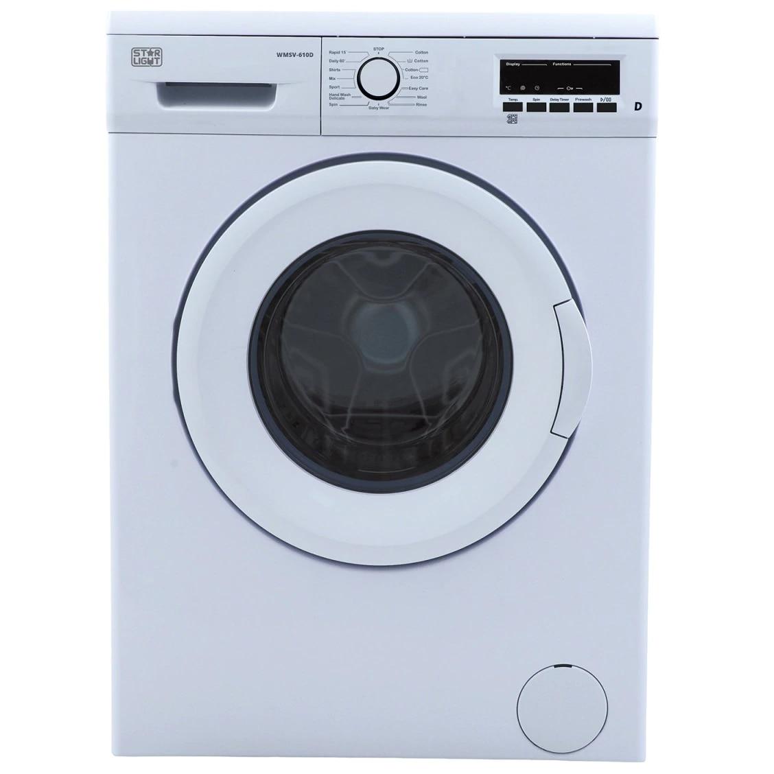 Fotografie Masina de spalat rufe SLIM Star-Light WMSV-610D, 6 kg, 1000 RPM, Clasa D, Display LED, Alb