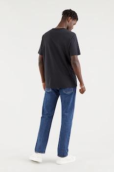 Levi's, Mintás póló hímzett részlettel, Fekete/Fehér