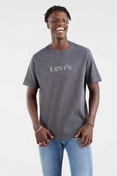 Levi's, Mintás póló hímzett részlettel, Sötétszürke/Fehér