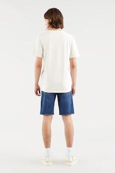 Levi's, Kerek nyakú mintás póló, Fehér/Világoskék