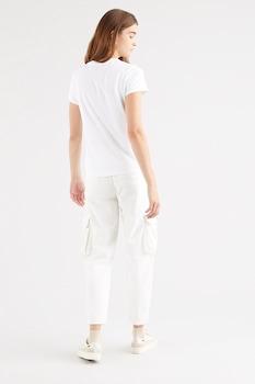 Levi's, Kerek nyakú logós póló, fehér/antracitszürke