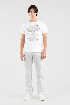 Levi's, Kerek nyakú logós póló, fehér/lila/zöld