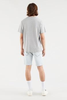 Levi's, Mintás póló hímzett részlettel, szürke/korallszín/kék