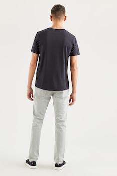 Levi's, Kerek nyakú mintás póló, Sötétkék/Zöld