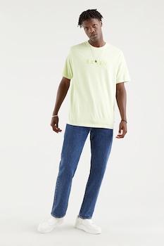 Levi's, Mintás póló hímzett részlettel, halványsárga/halványzöld