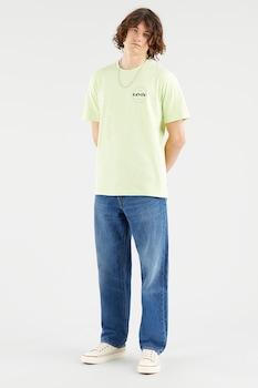 Levi's, Mintás póló hímzett részlettel, Halványzöld/Kék