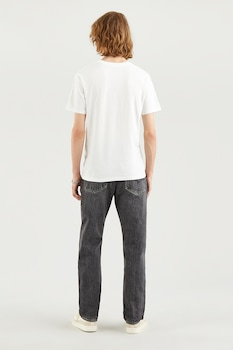 Levi's, Kerek nyakú mintás póló, törtfehér/bézs